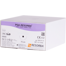 ПГА Ресорба 6/0 12 мм (1/2) 70 см.